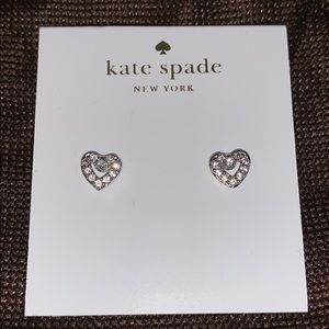 Kate Spade heart stud earrings
